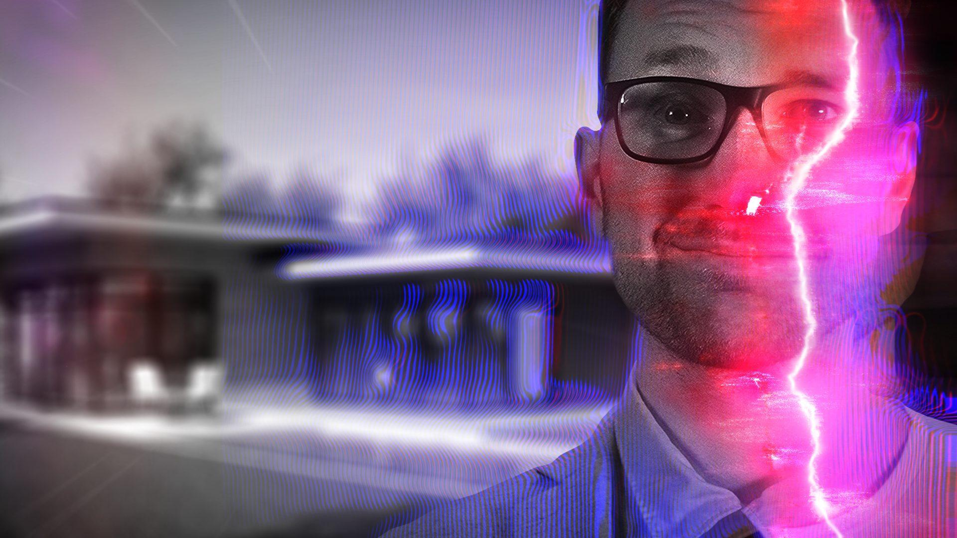 WandaVision-inspired reality transition glitch effect